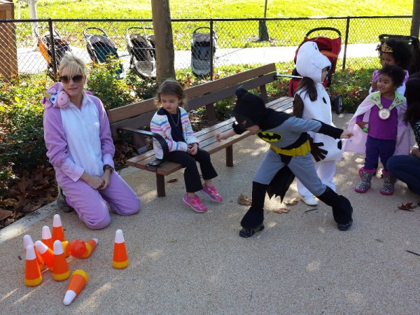 FH playground Halloween candy corn bowling