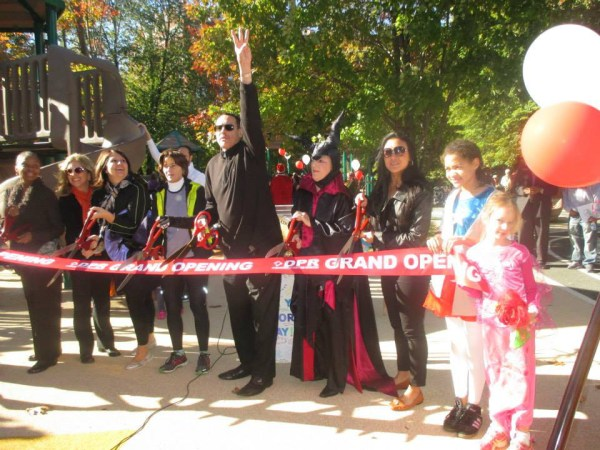 FH playground Halloween ribbon cutting