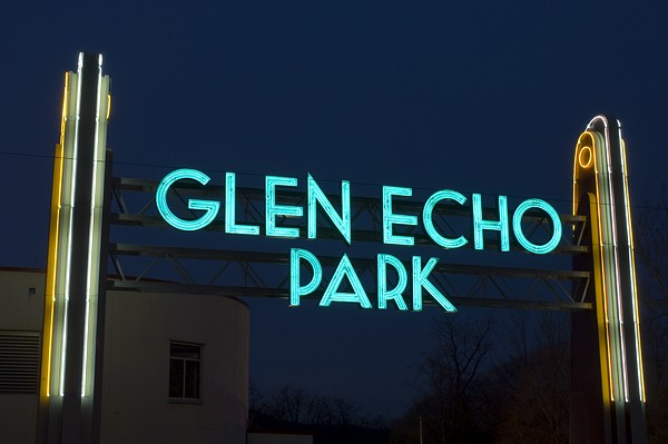 This neon sign was installed at the entrance to Glen Echo Park in 1940. (photo from glenechopark.org)