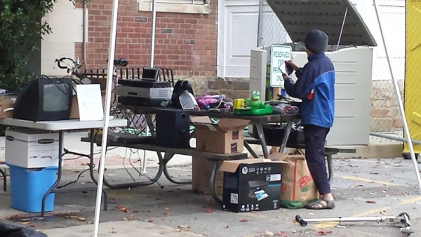One man's trash is another man's treasure. All this stuff was free for anyone to take.