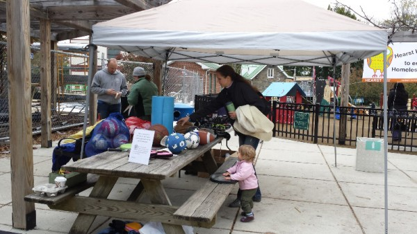 People can bring their used sporting equipment to the swap.