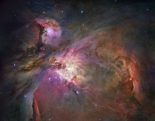 How the Hubble space telescope sees the Orion Nebula. (photo courtesy of NASA.gov)