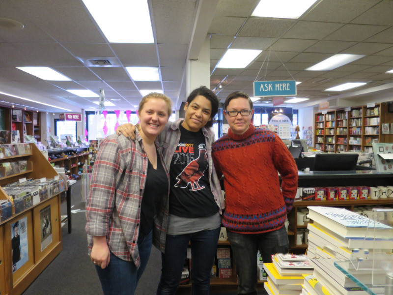 Abby Fennewald, Hannah Depp and Anton Bogomazov live close enough to walk in and open the store.