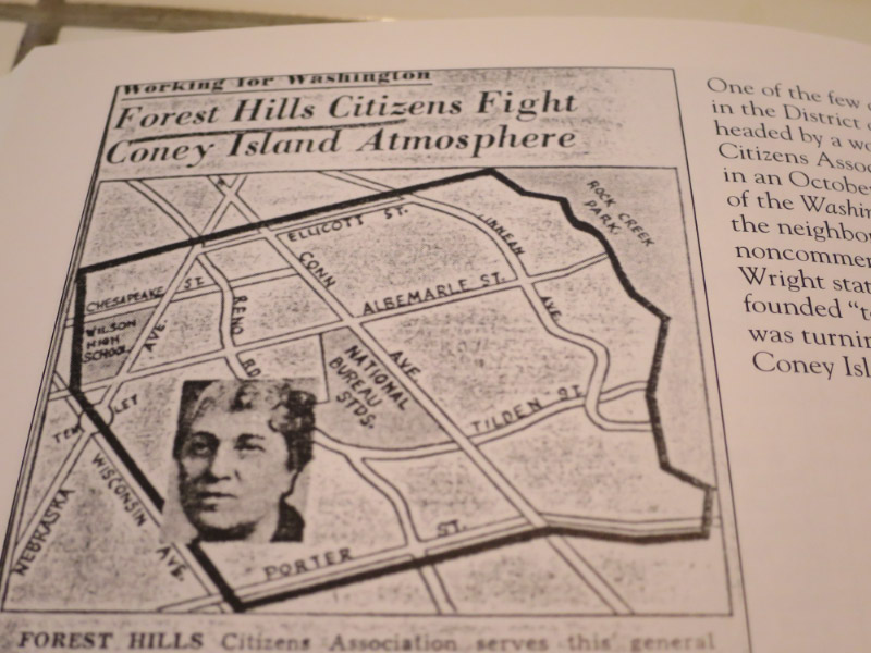 This map and rather tantalizing headline were published in the Washington Post in 1940. (Image from Forest Hills, p. 94)