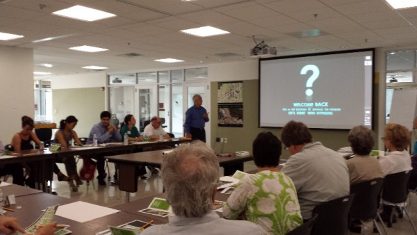 The July 19th  design charette for the Windom Place hub (photo by Marlene Berlin)