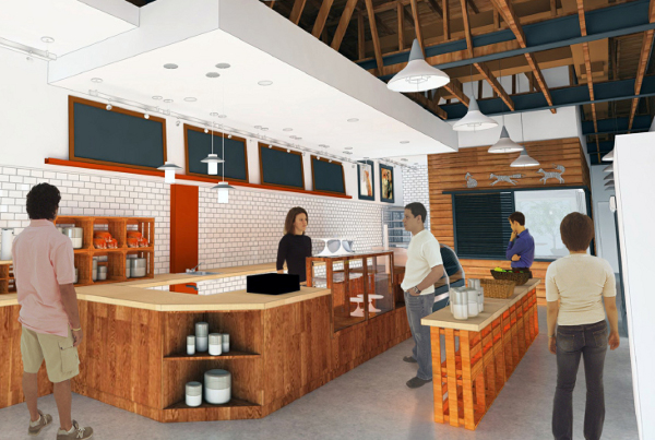 Architect's rendering of Little Red Fox's interior. (provided by Little Red Fox)
