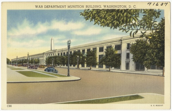 Munitions Building postcard, circa 1930-1945. (photo from the The Tichnor Brothers Collection at the Boston Public Library)