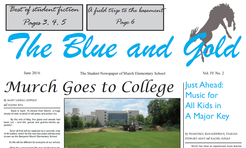 Murch Blue and Gold masthead