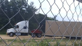 Murch trailers arrive on the UDC campus. (photo courtesy of Theresa Cameron))