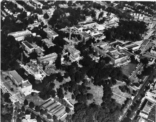 1952 aerial view of the National Bureau of Standards campus on Connecticut Ave (from the NIST archives)