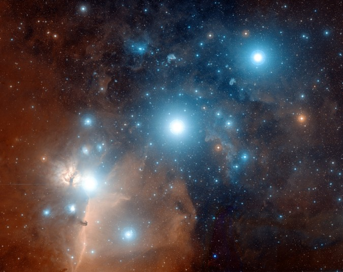 "From NASA.gov: ""Alnitak, Alnilam, and Mintaka, are the bright bluish stars from east to west (left to right)."""