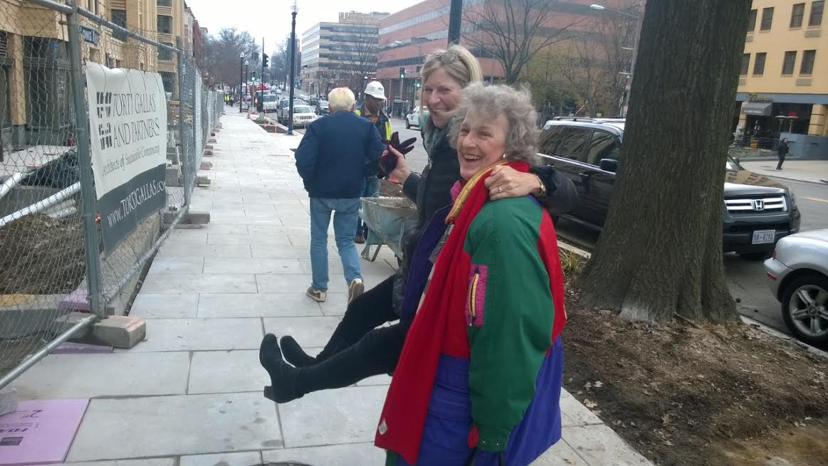 ANC 3F Commissioners Sally Gresham and Mary Beth Ray (airborne).