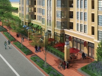 Architect's rendering of future Park Van Ness. (courtesy of Torti Gallas & Partners)