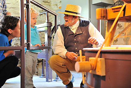 Friends of Peirce Mill and the National Park Service offer tours of the mill building and machinery demonstrations.