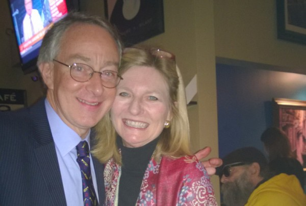 Mary Beth Ray, right, Van Ness Vision Committee chair, and husband Sheldon.