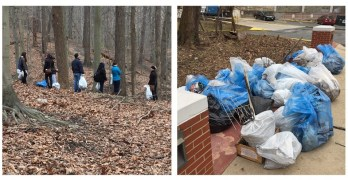 MLK Day Rock Creek park cleanups yield bags of trash… and a lawnmower!