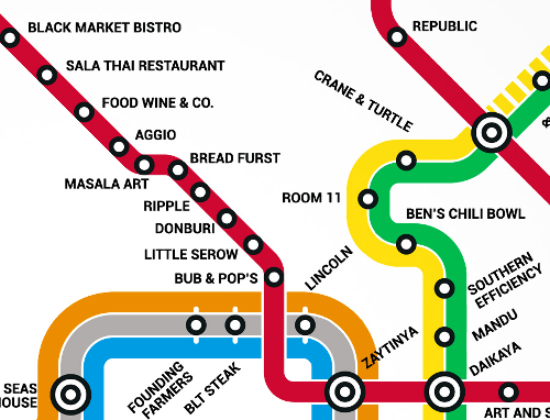Thrillist food metro map large