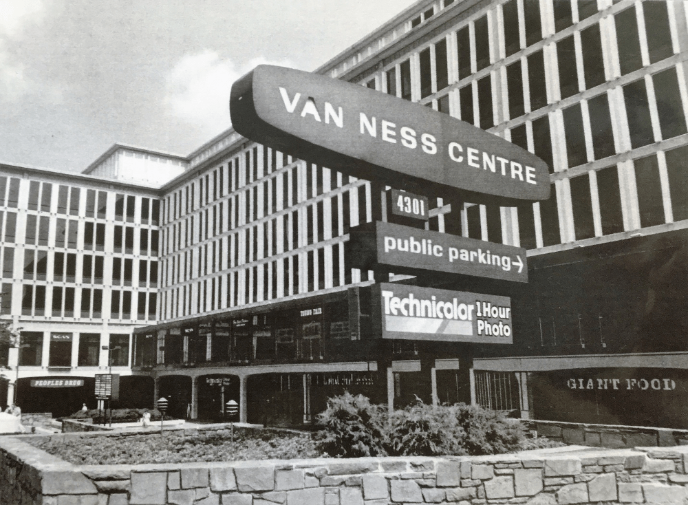 An undated photo of Van Ness Centre at 4301 Connecticut Avenue NW (photo courtesy of the Historical Society of Washington)