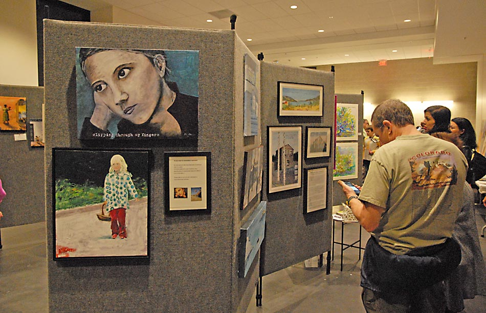 Local visual artists at the UDC Student Center