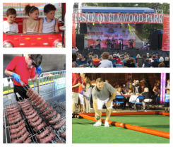 A collage of images from the 2018 Taste of Elmwood Park. Credit: via Taste of Elmwood Park