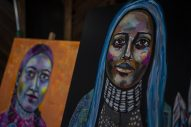 Artwork from Dana Bloede is seen at 540 Ferdinand Avenue on Saturday, Aug. 24, 2019, during the annual Garage Galleries throughout Forest Park. | ALEXA ROGALS/Staff Photographer