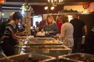 Guests enjoy a buffet of Golden Steer favorites on Sept. 9 | Alex Rogals/Staff Photographer
