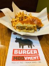 Black bean veggie burgers at Burger Moovment are flavorful and sturdy. | LOURDES NICHOLS/Contributor