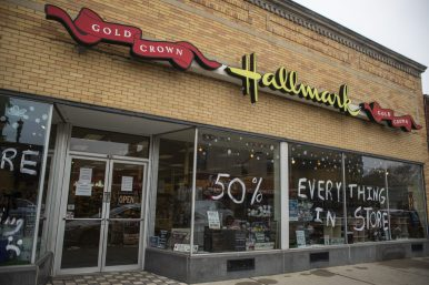 The Hallmark store at 7443 Madison St. is closing.