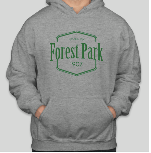 This year, the Forest Park Chamber of Commerce will be selling Forest Park swag like this hoodie at their booth in the parking lot of Constitution Court. | Photo provided