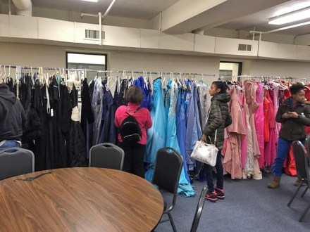 Proviso Township students peruse the offerings of free dresses, shoes and accessories at the Best of Proviso Township Glam Squad's 2019 event. This year's event will be held on March 29 at 1 p.m. at Canvas Junk Art & Cafe, 1115 Madison St. in Maywood. | Photo provided
