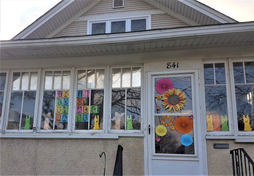 Forest Park residents are participating in a neighborhood-wide window art project.
