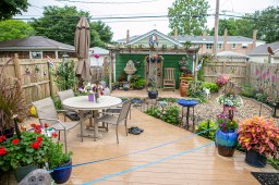 The backyard oasis of Tom O'Connel and Cameron Wilson was voted Best in Show by attendees of this year's walk. | Photo by Alexis Ellers