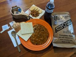 """The MRE was better than expected and came with wonderful attention to detail, including a pack of cookies, Smarties, and a moist towelette, """"like someone's mom packed it."""""""