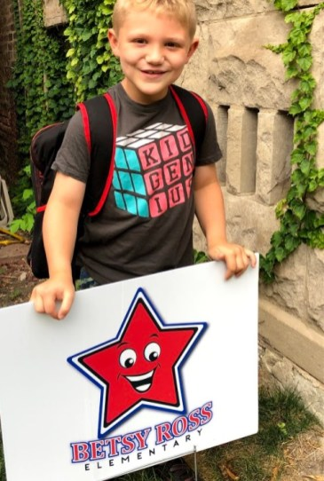 Some District 91 students, including 1st grader Joey, will learn remotely at the community center of the YMCA program at Grant White. | Photo provided