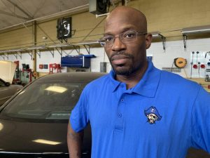 Donald Robinson teaches Auto Tech I and II at Proviso East, providing students with hands-on learning and a place to feel at home. | Photo provided