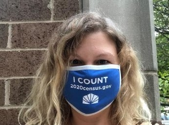 The Forest Park Public Library is providing assistance to patrons filling out the 2020 Census and is giving away free masks and other swag to promote the Census. | Photo provided