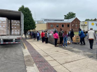 The PLCCA has been distributing food daily to Proviso Township residents. | Photo provided