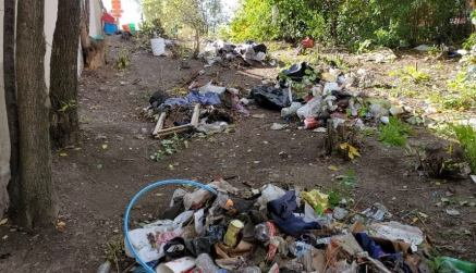 The land was cluttered with garbage and drug paraphernalia prior to the clean-up. | Photo submitted