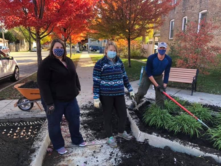Residents gathered to plant thousands of flower bulbs on Oct. 24. | Photo provided