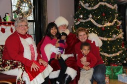 Santa Claus visited the Park District on Saturday for breakfast and met 108 children.Photos courtesy RACHELL ENTLER