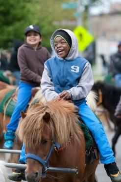 Terrell Herron enjoys his time atop a pony.
