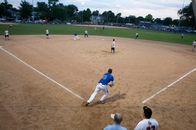 Nature Boys against Monkey on Field 1 at The Park in Forest Park. (David Pierini/staff photographer)