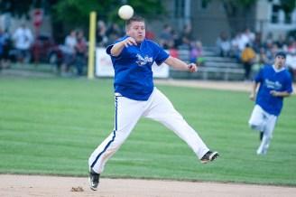 Nature Boys short stop Billy Bessenhofen makes a throw to first. (David Pierini/staff photographer)