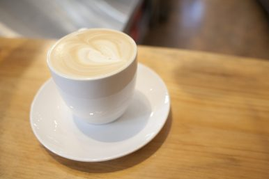 Love that coffee: A heart decorates the cappucino at Counter Coffee. (David Pierini/staff photographer)