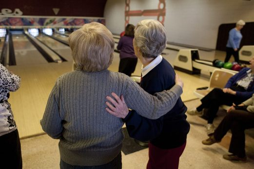 Early Birds talk of instant and lasting friendships from the Wednesday morning bowling league. (DAVID PIERINI/Staff Photographer)