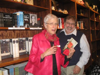 (Left to right) Sara Paretsky, noted mystery writer, and Augie Alesky. (JACKIE SCHULZ/Contributor)