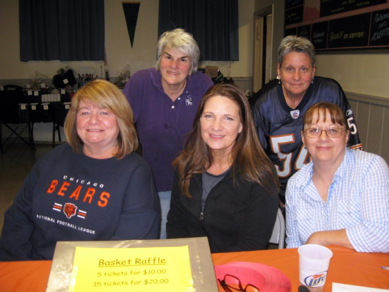Bears Fans: (Back row left to right) Susan Rohde, Deb Michalak. (Front row left to right) Maureen Martin, Marianne O'Connor, Della DeSonia. (JACKIESCHULZ/Contributor)