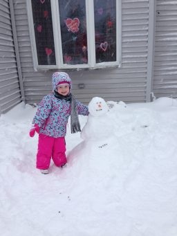 Abby Crawford's very first snowman!