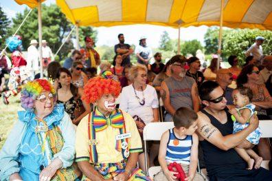 Spectators at the 16th annual clown festival. | William Camargo/Staff Photographer