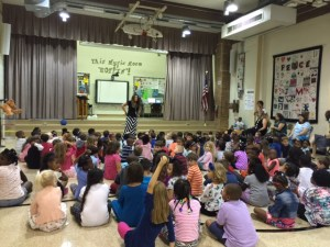 Garfield students at their first PBIS assembly of the year.